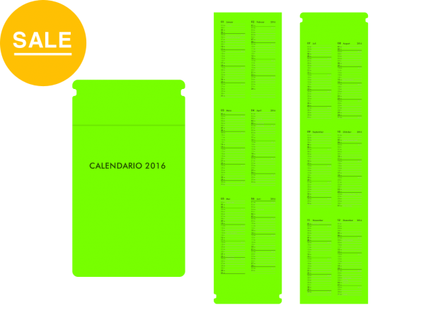 Moduletto Piccoletto (8×14) Faltcalendario 2016 Einlage