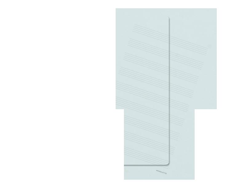 Hellblau, Noten