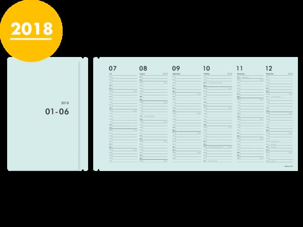 Moduletto Libretto (DIN A5) Faltcalendario 2018 Einlage