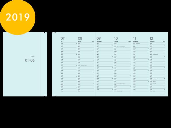 Moduletto Libretto (DIN A5) Faltcalendario 2019 Einlage