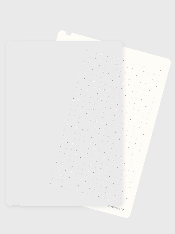 Elfenbein-Weiß, Punktiert