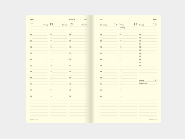 2022 »Stundenplaner« </br>Wochenkalender </br>für Libretto (DIN A5)