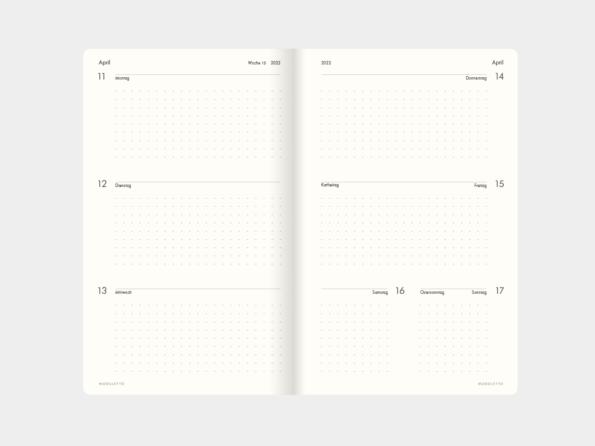 2022 »Überblick« </br>Wochenkalender </br>für Libretto (DIN A5)