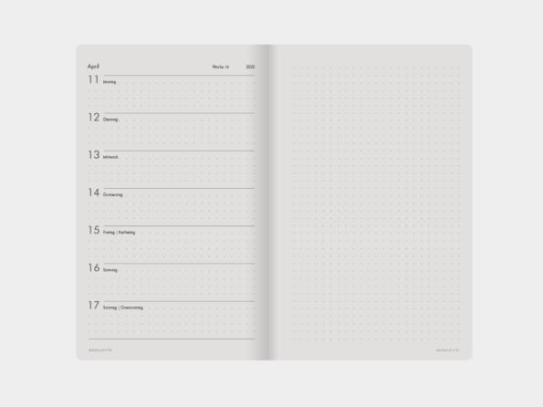 2022 »Flexibel« </br>Wochenkalender </br>für Libretto (DIN A5)